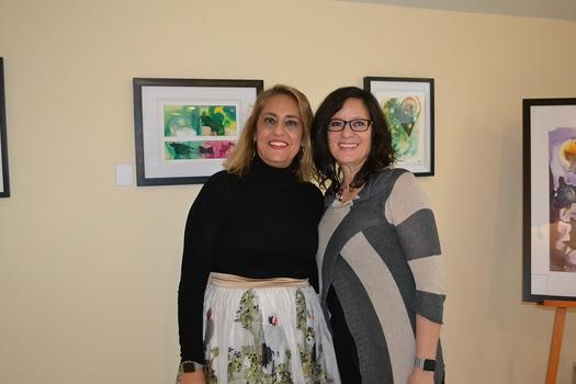 Kathy Seuylemezian and artist Ooty Moorehead