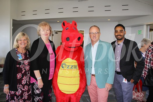Mary Beth Perrine, Caryl Pettit, Ozzie the dragon, Michael Sullivan and Michael Willis