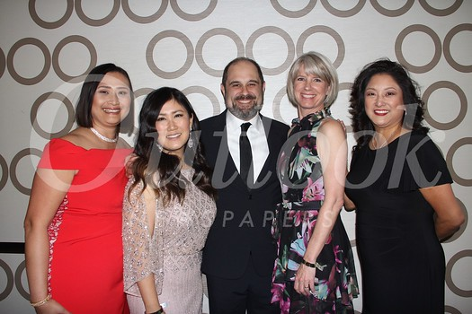 LCFEF President and gala co-chair Caroline Anderson, co-chair Sunyoung Fahimi, honorees Craig and Melissa Mazin, and LCFEF Executive Director Marilyn Yang