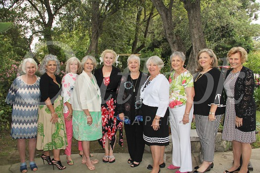 Event committee members include Alice Ryan, Yvonne Marchosky, Gracella Gibbs, President Sheri Morton, event chair Cindi McIntosh-Behr, Yvonne Elleri, Linda Pebsworth, Alma Tycer, Brenda Pieroni and incoming President Sharon Combs.