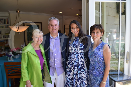 Chair of USC Verdugo Hills Hospital Foundation Board Sue Wilder, CEO Keith Hobbs, Foundation Director Kerri Yoder Hubbard and host Julie Battaglia