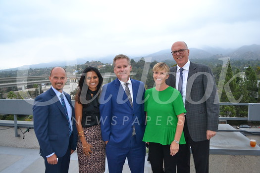Keck Medicine of USC Chief Operating Officer Rodney Hanners, COO of USC Care and Ambulatory Services Smitha Ravipudi, USC Verdugo Hills Hospital CEO Keith Hobbs, Keck Medicine chief strategy and business development officer Shawn Sheffield and Keck Medicine CEO Tom Jackiewicz.