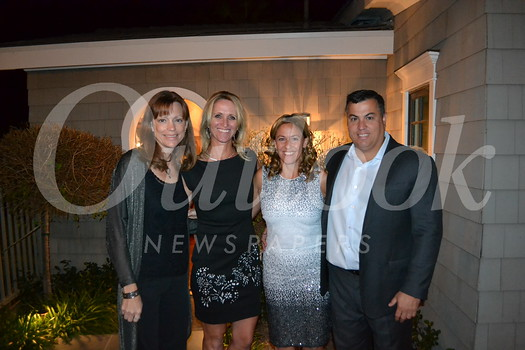 Wine auction co-chairs Joleen O'Brien and Teresa Butier with event hosts Christi and Chris Matarese