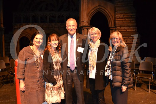 PTA recipients: PTA President Lisa Dick, Betsy Asher Hall, Dan Jeffries, Melissa Mazin and Superintendent Wendy Sinnette.