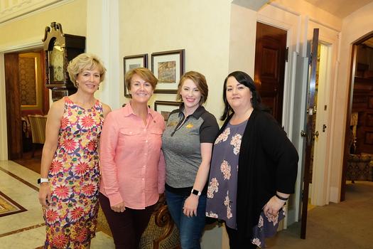 AVIXA Women's Council Los Angeles co-leaders Christina De Bono and Susan Wilhite with Brittany DiCesare and Brandy Alvarado