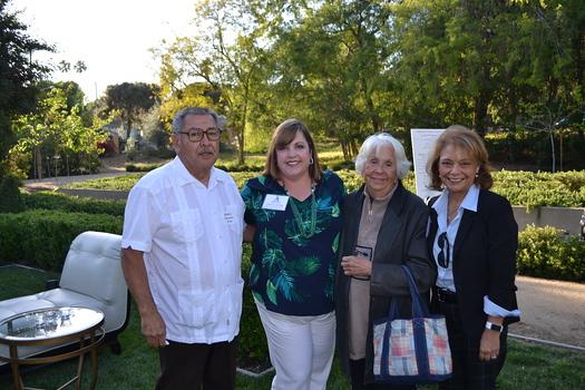 Robert Navarro, Wendy Finch-Burk, Antonia Navarro and Head of School Julia Fanara