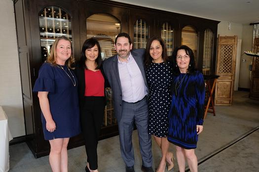 Natalie Wycoff, Yennis Wong, Armen Sarkisian, Hazel Perera and Marilyn Simon
