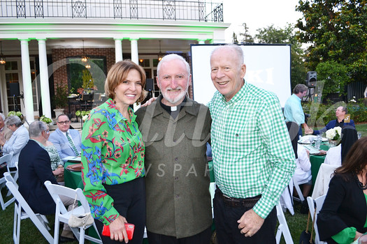 Hosts Mary and Bill Urquhart with Bishop David O'Connell