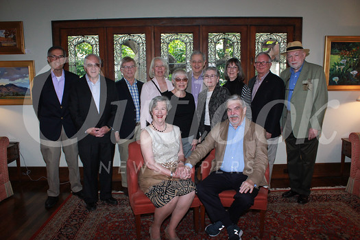 Cathy and Lew Phelps (front row, from left). Back: Jim Ipekjian, Harvey Knell, Tim Gregory, Ann Scheid, Ellen Knell, John Ripley, Mic Hansen, Sue Mossman, Peyton Hall and William W. Ellinger III
