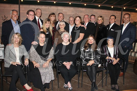 Members of Cancer Support Community Pasadena's 2018 Benefactors Society include (seated, from left) Julie Nesbit, Louise Wannier, Bonnie DeWitt, Dana Naples and Rosemari Annear.  Standing: Scott Nesbit, Michael Burns, John DeWitt, Melissa Alcorn, LeAnn and Michael Healy, Ellen and Harvey Knell, Meg and John Symes, Tom Daly, Rita Whitney (The Agency), Mike Naples and Gus Ruelas (The Agency). Not present: Liz Arizmendi (Rusnak Auto Group), Martha Baumbach (RBC Wealth Management), LeeAnn and Ron Havner, Terri and Jerry Kohl, Steve and Sally Mann (Wells Fargo Private Bank), Margaret and David Mgrublian, Ann Olson, Paul Rusnak (Rusnak Auto Group), and Vicki and Brad Schwartz.