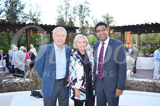Don and Rose Manning with Doheny Eye Institute President Dr. SriniVas Sadda