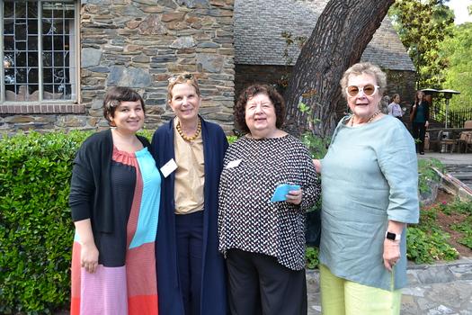 Lauren Siegel, guest speaker Elisa Callow, Susan Futterman and Joanne Kerner