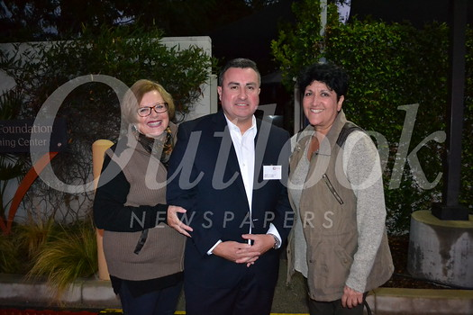 Stephanie Hardy, Families Forward Executive Director Hector LaFarga Jr. and Diane Pacheco