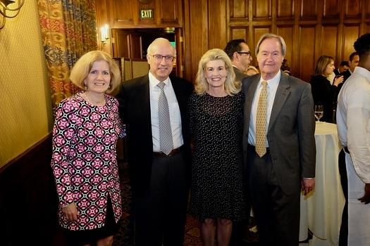 Molly Bachmann, honorees Karl and Kathy Swaidan, and Head of School Peter Bachmann
