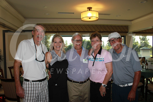 George Davis, Kathy Broders, event chair Pat Wickhem, Jody Davis and J C  Cadam