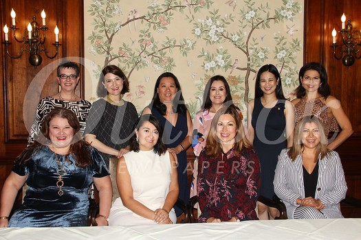 Members of the 2019-20 board for Friends of Foothill Family include benefit co-chair Annette Ermshar (seated, from left), Vice President Christine Villalpando-Escobar, President Chelby Crawford, and benefit co-chair Sandra Belloso. Back: Rochelle Siegrist, Vanessa Wolf Alexander, Melissa Wu, Michelle Guerra, Tina Chiou and Lora Unger.