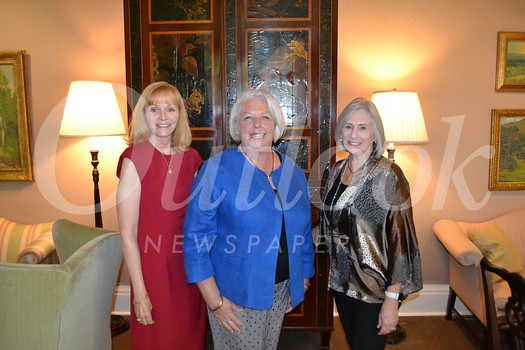 Women's Committee of the Pasadena Symphony President Drusie Taylor, second Vice President and Holiday Look In chair Marsha Willhite and Vice President Mona Neter