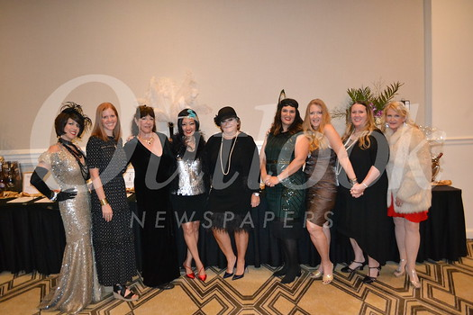 Event committee members Cory Comeaux-Soto, Bridget Pudi, Reparata Mazzola, Nancy Tom, Kathleen Turknette, Katie Chenu, Mary Schimmoller, Karen Whitney and Mary Hatton