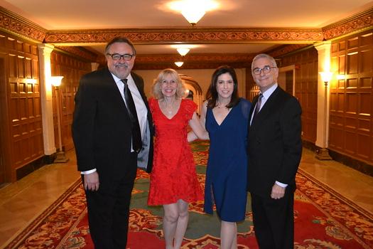 Bel Canto Award recipient Don Hahn, gala chair Andrea Greene Willard, and Rebecca Thompson Founder's Award recipients Jennifer and Joe Sliskovich