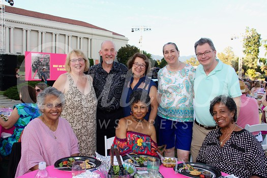 Linda Gueringer (front row, from left), Sandra Hill and Nell Wilson. Back: Diana Blaney, Craig and Marie Noren, Jackie Green and Roger Kern.