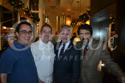 Greg McLemore, Chef Gil Saulnier, Steve Mulheim and manager Ed Mamigonian