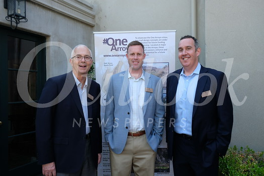 Kris Popovich, John Onderdonk and One Arroyo Foundation President Dan Rothenberg