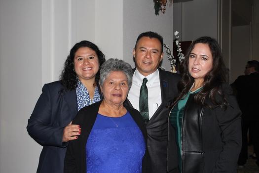 Incoming PFAR President Eddie Ramirez with Hilma Thomas, Sara Ramirez and Rose Ramirez