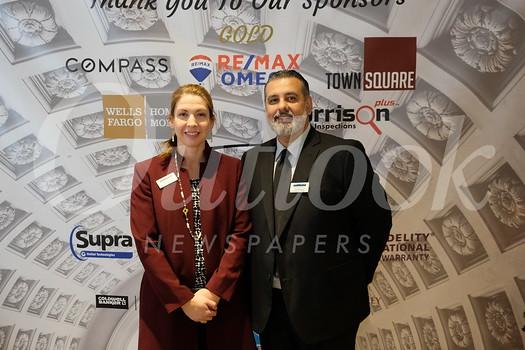 Pasadena Foothill Association of Realtors CEO Carla Dane and PFAR Operations Manager Jose Ontiveros