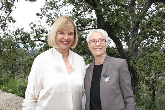 PAA Grants Committee co-chair Carol Econn and President Bea Trujillo