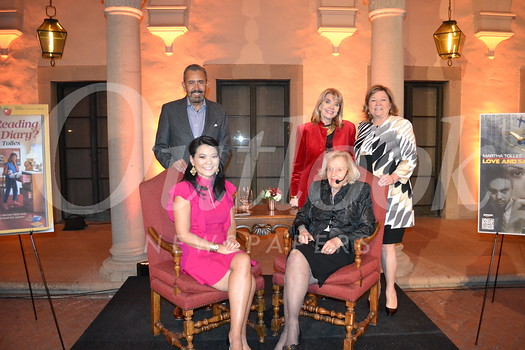 "Martha Tolles (seated at right) was the ""Hometown Legend"" featured at the Pasadena City College Foundation's popular series at the Athenaeum last week. She is pictured with (clockwise, from top left) foundation President Bill Hawkins, Nancy Davis, Executive Director Bobbi Abram and interviewer Julie Lin."