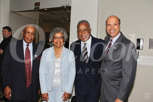 NAACP Pasadena Branch President Del Yarbrough, event co-chairs Juanita West Tillman and Tommy McMullins, and Honorary chair Darryl Dunn
