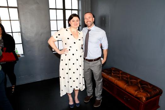 """Belleville"" director Jenna Worsham and Pasadena Playhouse Artistic Director Danny Feldman"