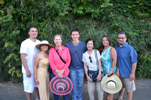 Steve and Jill Portillo, Susan Napier, Michael Cavanaugh, Bonnie Vargas, and Martha and Daniel Valdez