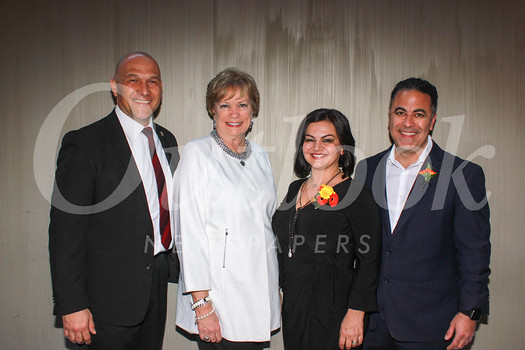 John Perez, Barbara Baptie, and honorees Maggie and Robert Shahnazarian
