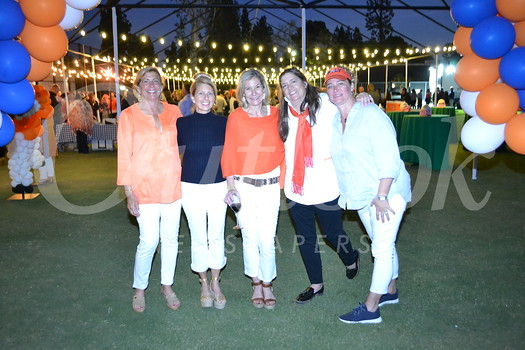 """Friday Night Lights"" committee Leslie Clayton, Denise Mathews, Kim D'Amico, Eileen Williamson and Lyn Salembier"