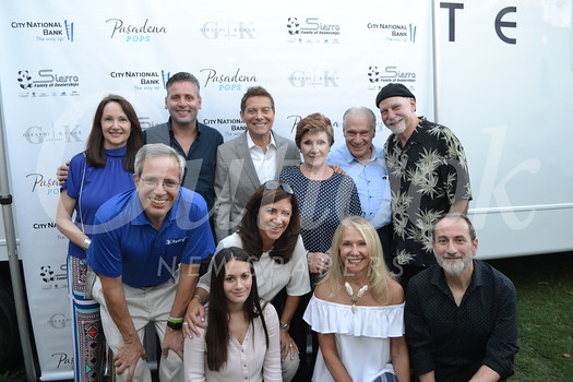 Mike Caligiuri (front row, from left), Daniela Marcucci, Patricia D'Aquino Renna, Candice Rosen and Guido Marcucci. Back: Ani Caligiuri, Fabrizio Renna, Michael Feinstein, Sylvia and Gaetano D'Aquino and Steven Rosen.
