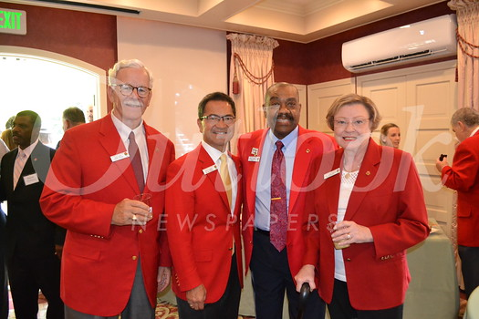 Dave Davis, Ron Chinen, 2019 President Gerald Freeny and Libby Wright