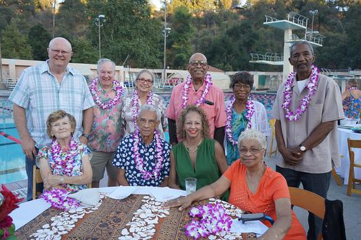 Marsha Joy (front row, from left), Mike Houlemard, Marie Foster and Stephanie Alston. Back: Darryl Joy, Jim Henry, Teresa Henry, Millard Murphy, Carrie Alston and Sonny Jackson.
