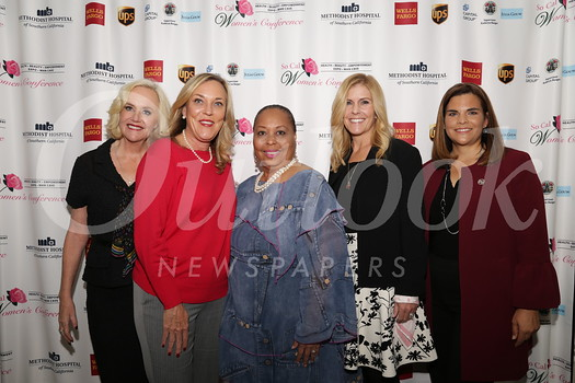 Sheila Grether-Marion, L.A. County Supervisor Kathryn Barger, conference CEO Lena Kennedy, Lisa Stevens and Alice Juarez