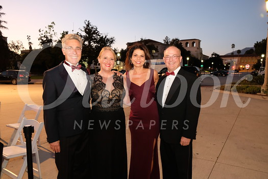 Pasadena Symphony Musical Director David Lockington, Moonlight Sonata Gala chair Rebecca Shukan, Pasadena Symphony CEO Lora Unger and Pasadena Symphony Board President Ray Kepner
