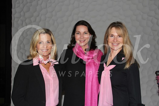 President Sarah Shelton (center) with event co-chairs Connie Harding and Valerie Andrews