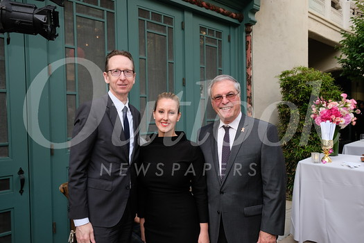 USC Provost Michael Quick, USC Pacific Asia Museum Executive Director Bethany Montagano and Mayor Terry Tornek