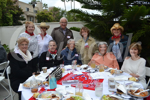 Valerie Kalik (front row, from left), Sean Kennally, Jim Brown, Sal and Bobbi Gangi. Back: Barbara Gilliam, Lisa Mena, Jan Kalik, board member Merrilyn Brown and Connie Adams.