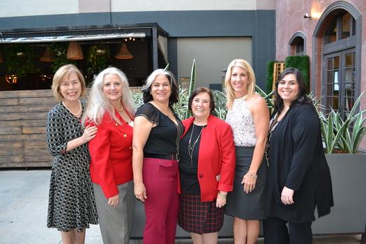 Event hosts Deborah Schwarz, Gail Price, Roxanne Gunther, Linda McLarnan Dugan, Cynthia Coan and Gracy Donikian