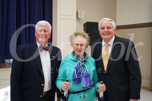 President Richard Pearson, speaker Barbara Beskind and James Angelos