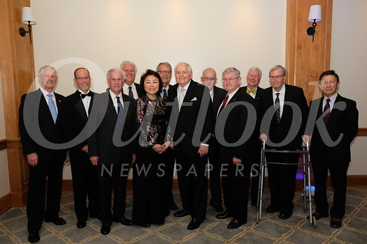 Current and past presidents: Dan Biles, Pete Loeffler, Tom Santley, Mort Mortimer, Janice Lee McMahon, Wally Rosvall, current President Jim Angeles, Fritz Sears, Bill Payne, Dick Pearson, Dick Ward and Eugene Sun