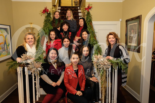 Jill Werden (front row, from left), Diana Han, Tina Feng, Tieu My Nguyen and Jennifer Rogers. Second row: Maria Villamil, Lina Wu and Cheryl Hom. Third row: Wendy Yang and Carol Chung. Back: Lauren Shen and Cori Solan.