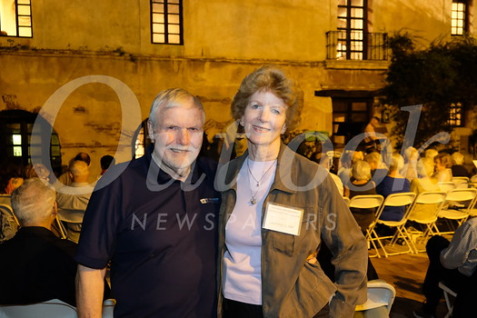 Tom Dakan and Old Mill Foundation Assistant Executive Director Michele Clark
