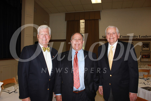 City Club President Dick Pearson, speaker Clifford Daniels and Jim Angelos