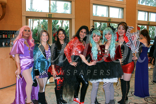 "Valentine parents, including Maria Manibog, Cindy Yung, Celina Duffy, Zeina Daoud, Stacy Seow, Rosemary Lay and Luyi Khasi, dressed as characters from the movie ""The Greatest Showman."""